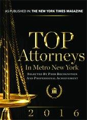 2016 Top Attorneys in Metro New York Book Cover
