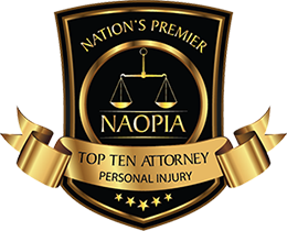 Nations Premier Top Ten Attorney Personal Injury Badge