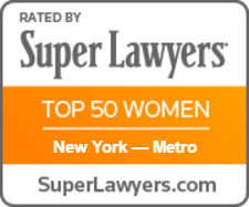 Super Lawyers Top 50 Women Badge